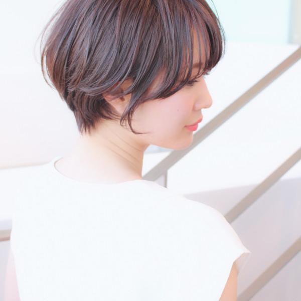 【◎ショートヘア】丸みがある襟足美人な大人スタイル